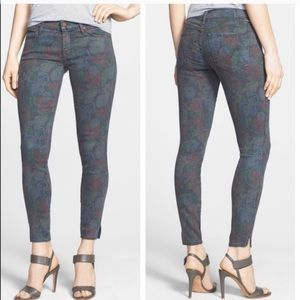 Mother The Vamp Floral Crop Skinny Jeans 27